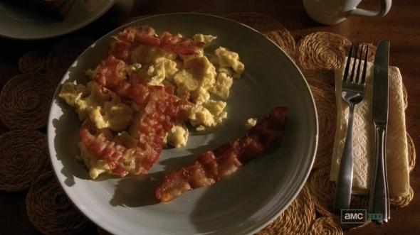 Walt Jr. had to sacrifice his bacon for this tradition.  It's the tipping point we've all been waiting for...